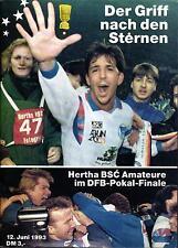 DFB-Pokalendspiel 12.06.1993 Bayer 04 Leverkusen - Hertha BSC A, Edition Hertha