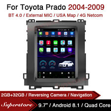 "9.7"" Tesla Style Android Car Stereo GPS For Toyota Prado 2004-2009"