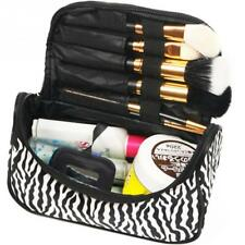 Women Multifunction Travel Cosmetic Bag Zebra Striped Makeup Case Pouch Toiletry