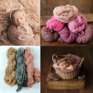 Newborn Photography Props Wrap Baby Blanket Soft Stretchable Cotton Swaddling