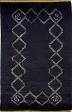 Rugstc 3x5 Senneh Gabbeh Black Area Rug,Vegetable dye, Hand-Knotted,Wool Pile