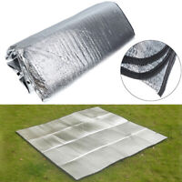 Waterproof Aluminum Foil Camping Mat Foldable Sleeping Picnic Beach Outdoor_SE