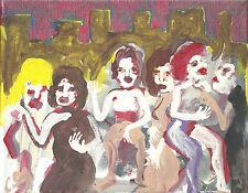 The Laundry Ladies  new york street genre scene by william mayer canvas art