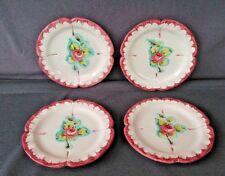 "Vintage Decorative Ceramic Pottery Italy 8.5"" Plates 2.63 Set of 4"