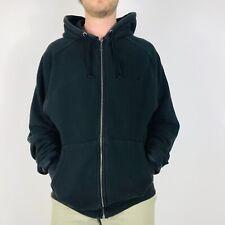 Champion Mens Large Black Hoodie Sweatshirt Full Zip Logo Retro