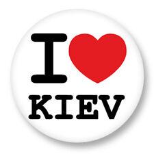 Magnet Aimant Frigo Ø38mm I Love Heart Coeur J'aime Kiev Ukraine