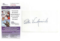 1982 BREWERS Pete Vuckovich signed 3x5 index card JSA COA AUTO Autograph Cy Youn