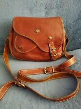 Rare Vintage Made In France Brown Genuine Leather Handbag Gil Holsters