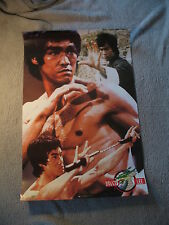 0bdb5c3f313 Bruce Lee 1993 Enter the Dragon Nunchucks Osp Pub Jeet Kune Do Rare Poster  VGEX