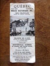 1940s Wax Museum Historic US Canada Scenes Tourist Information Brochure Quebec