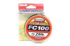 Sunline System 100 Fluorocarbon Shock Leader Linea 30m 70lb (7032)