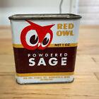 Vintage 1948 Red Owl Minneapolis Spice Tin Powdered Sage 1 oz Tin Can Partial