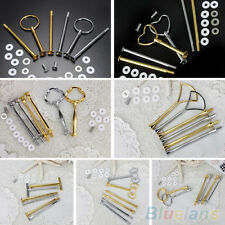 MEANINGFUL 2 OR 3 TIER PLATE HANDLE FITTING HARDWARE ROD TOOL CAKE PLATE STAND
