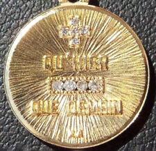 GORGEOUS '+ QU'HIER - QUE DEMAIN ' CHARM PENDANT,A.AUGIS, GOLD 18K, 1.43 GR