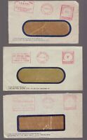 Australia Victoria 3 x postage paid circa 1950's advertising covers