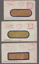 Australia Victoria 3 x postage paid circa 1950's advertising covers