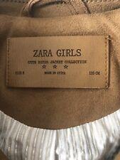 Zara Faux Suede Girls Jacket Size 5