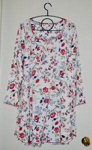 NWT Karen Neuburger Women's Plus Ivory Floral LS Nightshirt sz 1X