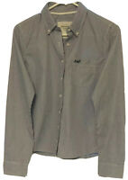 Abercrombie & Fitch Blue White Button-Up Oxford Shirt Women's Medium