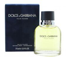 DOLCE & GABBANA POUR HOMME EAU DE TOILETTE EDT 75ML SPRAY - MEN'S FOR HIM. NEW