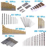 6-99pcs HSS Titanium Coated Metal High Speed Steel Drill Bit Set Tool 0.3-10mm