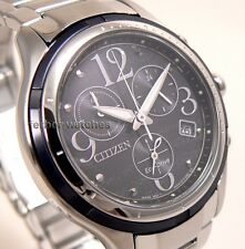 CITIZEN LADY ECO DRIVE CHRONOGRAPH SAPPHIRE 50m STAINLESS STEEL FB1376-54E cg
