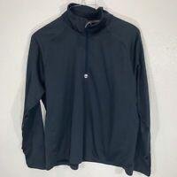 Timberland Men's Quarter-Zip Navy Polyester Pullover Running Jacket SZ 2XL