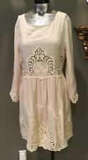 NWT Anthropologie Lulumari Boho Victorian embroidery lace Dress Sz L wedding