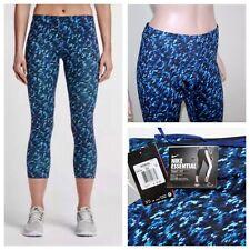 NEW $65 Nike Women's Dri-FIT Essential Tight Fit 3/4 Crop NWT Blue 830705-455 1X