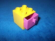 LEGO DUPLO PUPPENHAUS 1 X SCHRANK GELB PINK mit SCHUBLADE zum ÖFFNEN 2783