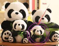 2Pcs 9cm Panda Bear Standing Stuffed Animal Plush Soft Baby Toys Cute Keychains