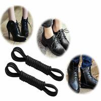 Round Waxed Shoelaces Oxford Dress Canvas Sneaker Shoe Laces Unisex