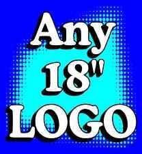 "2) ANY LOGO customizable CORNHOLE ""Baggo"" 18"" Decals"