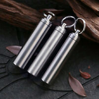 EDC stainless-steel Case Waterproof Capsule Seal bottle Outdoor travel accessory
