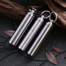 EDC Stainless Steel Case Waterproof Pill Capsule Seal Bottle Outdoor Travel Box