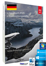 Adobe Photoshop Lightroom 6 Vollversion Handbuch (PDF) Win/Mac Download NEU