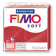 FIMO Soft Polymer Modelling Oven Bake Clay 57g Choose From Over 25 Colours Christmas Red (50)