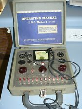 Vintage EMC 213-211  Vacuum Tube Tester Electronics with Manual and wooden case