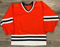 Vintage Blank NHL Hockey Jersey Chicago Blackhawks Youth Sz L/XL Black Red White