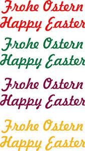 Ostern Frohe Ostern Happy Easter Geschenk Aufkleber Wandtattoo Fensterdeko