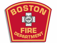 "4"" boston fire department bumper sticker decal made in usa"