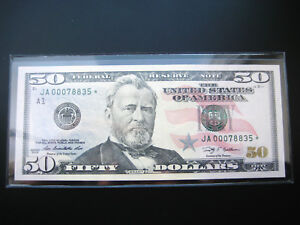 $50 2009 JA***STAR***FEDERAL RESERVE CHOICE UNC BU NOTE LOW#ooo78835