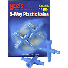 LEES LEE'S PLASTIC 3 WAY VALVE FOR PUMP TUBING AIR LINE TUBE FREE SHIP TO USA