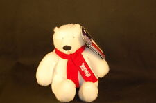 "White Polar Bear Authentic Coca Cola 07 French English Tag New Plush 6"" Toy"