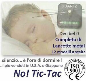 OROLOGIO PARETE SILENZIOSO MECCANISMO SENZA TicTac linea C22 c/LANCETTE METALLO