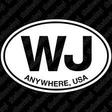 "JEEP ""Anywhere, USA"" Euro Oval Decal Sticker WJ Grand Cherokee Laredo Limited"