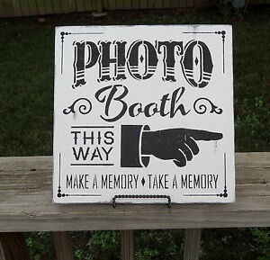 Barn Wedding Photo Booth Finger Arrow Point Prop Photography Sign Decoration