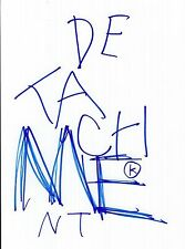 Tony Kaye sketch signed Detachment 8x10 photo @ Authentic @ American History X
