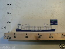 STICKER,DECAL EAGLE CONTAINER LINE BOOT SCHIP