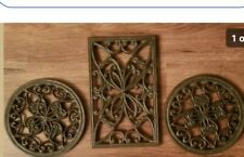 Southern living at home WillowHouse estate iron trivets trio rubber covers 40508